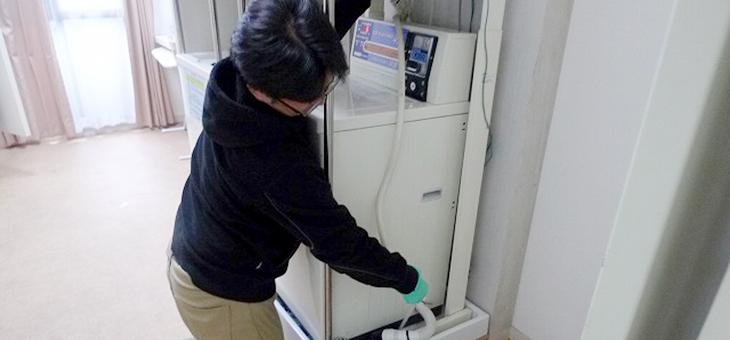 洗濯機の排水口@DK HOUSE 神戸
